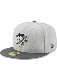 Pittsburgh Penguins New Era Grey Heather Action 59FIFTY Fitted Hat