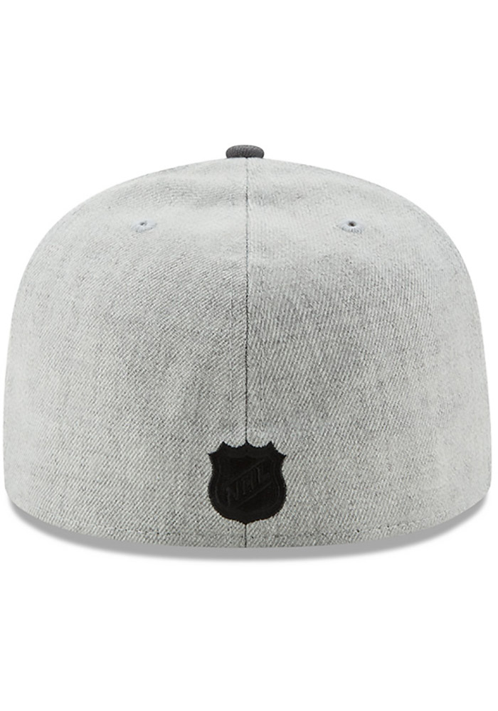 New Era Pittsburgh Penguins Mens Grey Heather Action 59FIFTY Fitted Hat - Image 5