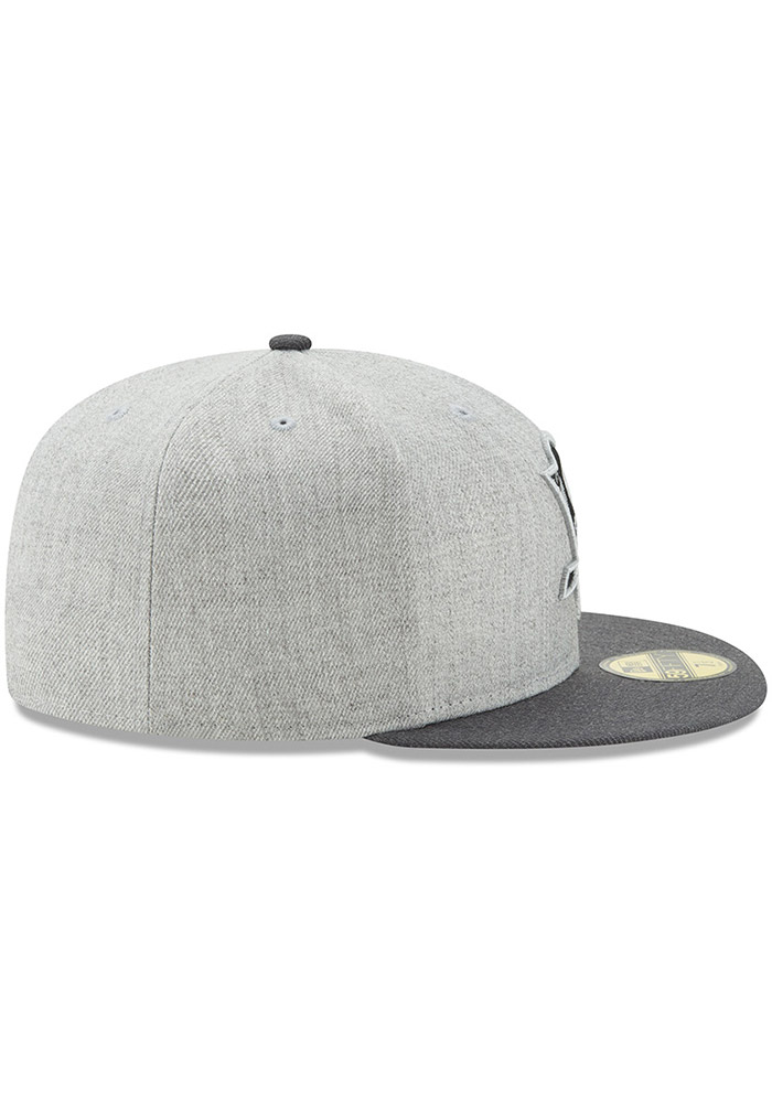 New Era Pittsburgh Penguins Mens Grey Heather Action 59FIFTY Fitted Hat - Image 6