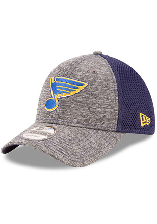 New Era St Louis Blues Mens Grey Shadow Turn 9FORTY Adjustable Hat