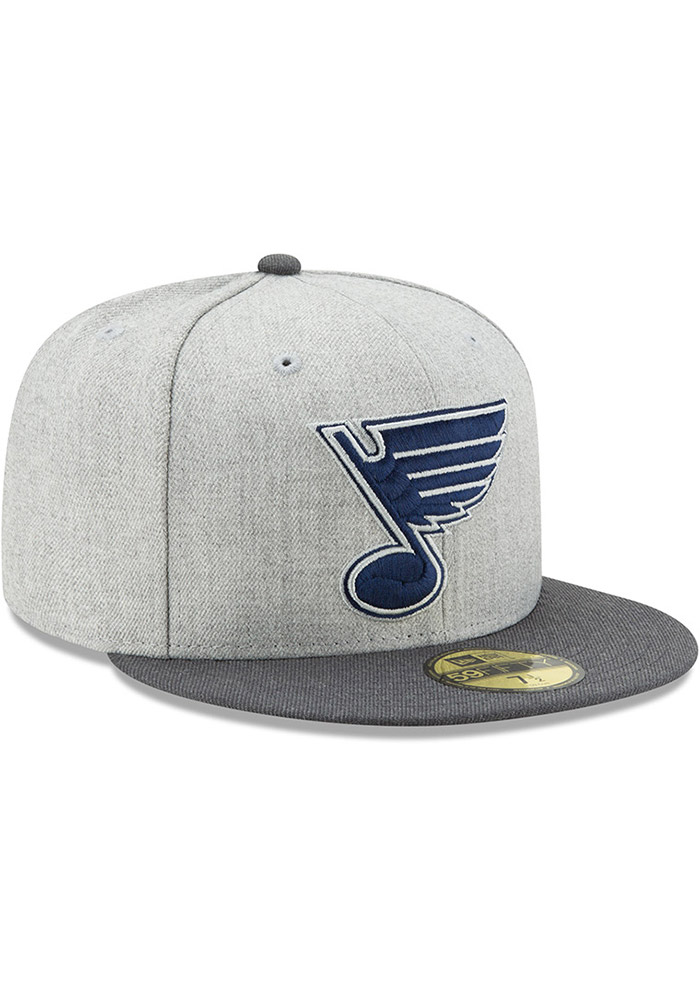 New Era St Louis Blues Mens Grey Heather Action 59FIFTY Fitted Hat - Image 2