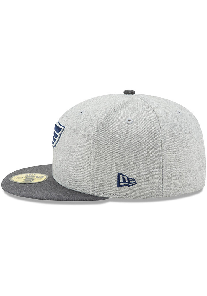 New Era St Louis Blues Mens Grey Heather Action 59FIFTY Fitted Hat - Image 4