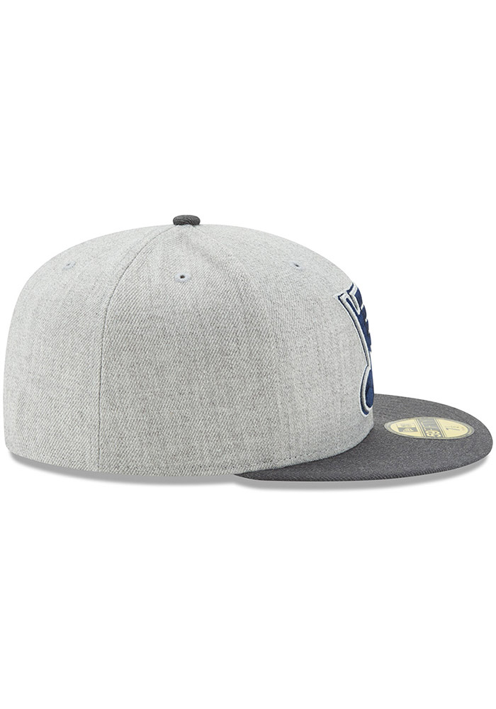 New Era St Louis Blues Mens Grey Heather Action 59FIFTY Fitted Hat - Image 6