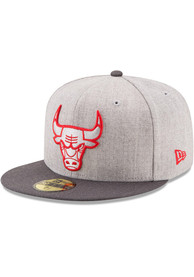 Chicago Bulls New Era Grey Heather Action 59FIFTY Fitted Hat
