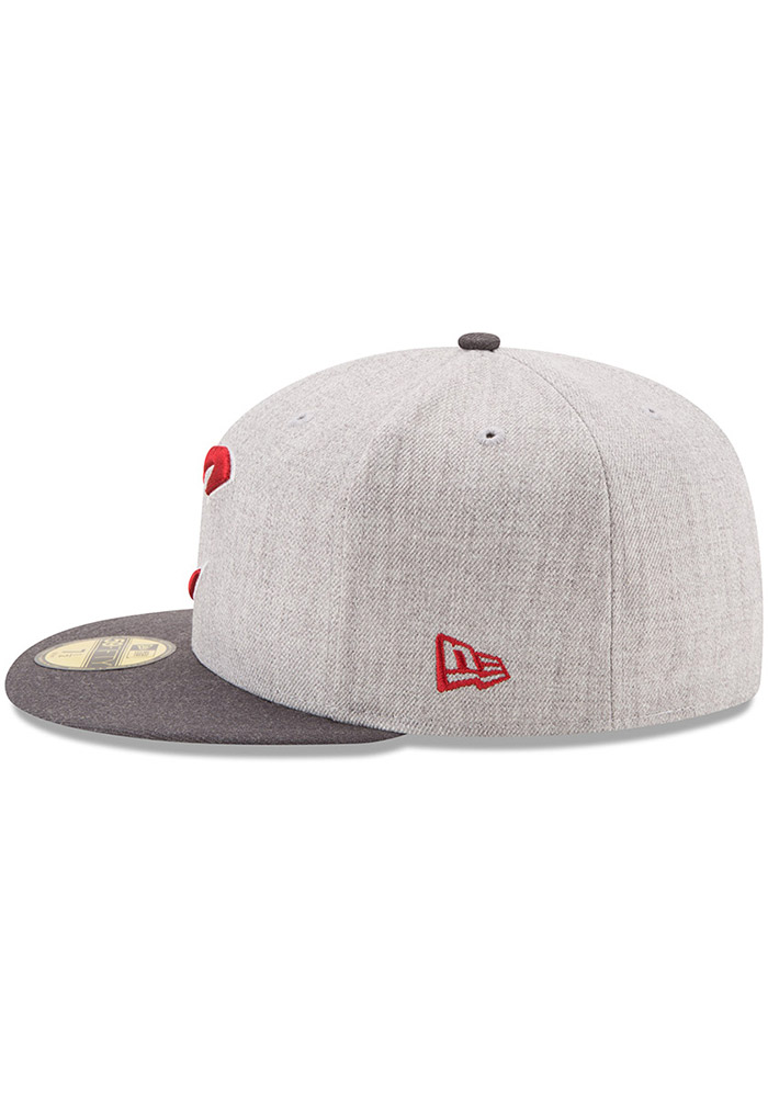 New Era Cleveland Cavaliers Mens Grey Heather Action 59FIFTY Fitted Hat - Image 4