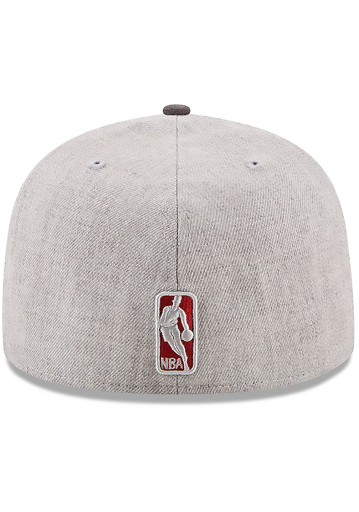 New Era Cleveland Cavaliers Mens Grey Heather Action 59FIFTY Fitted Hat - Image 5