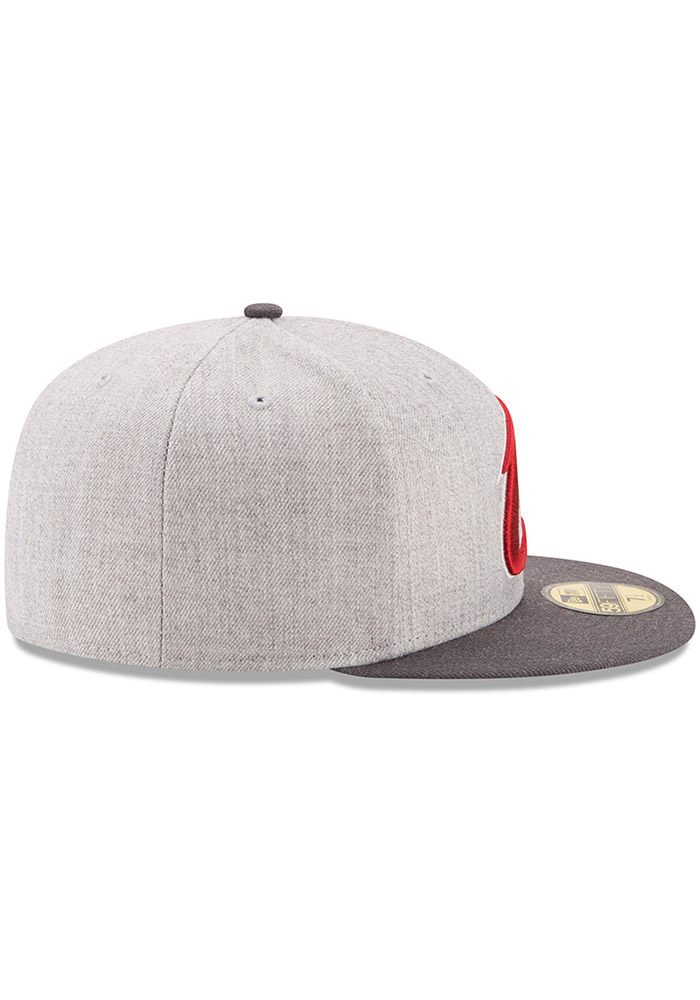 New Era Cleveland Cavaliers Mens Grey Heather Action 59FIFTY Fitted Hat - Image 6