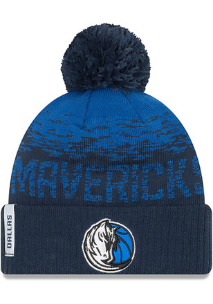 New Era Dallas Mavericks Navy Blue NE16 Sport Knit Hat