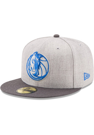 Dallas New Era Mens Grey Heather Action 59FIFTY Fitted Hat