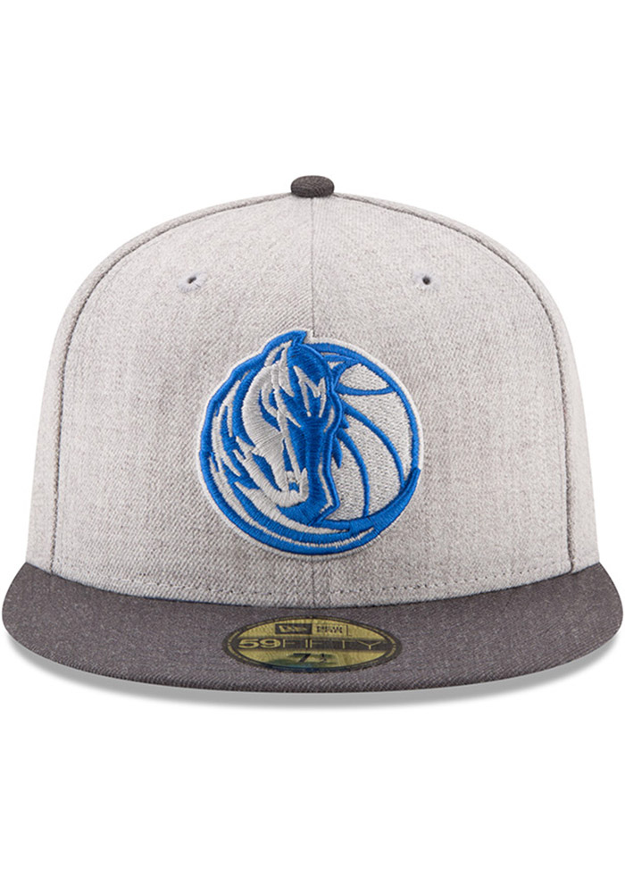 New Era Dallas Mavericks Mens Grey Heather Action 59FIFTY Fitted Hat - Image 3