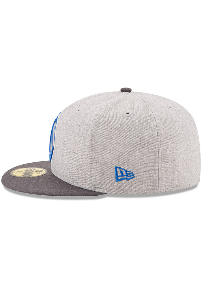 New Era Dallas Mavericks Mens Grey Heather Action 59FIFTY Fitted Hat - Image 4