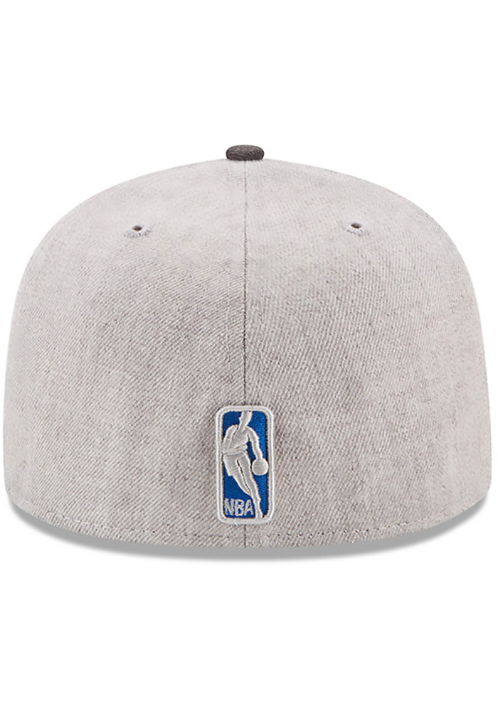 New Era Dallas Mavericks Mens Grey Heather Action 59FIFTY Fitted Hat - Image 5