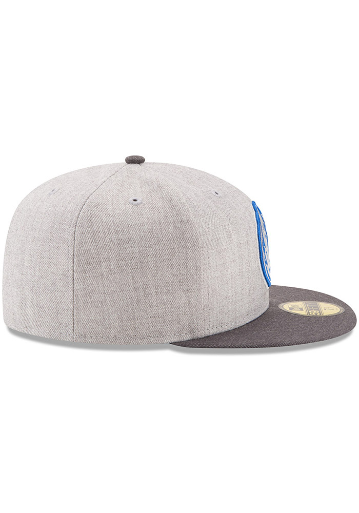 New Era Dallas Mavericks Mens Grey Heather Action 59FIFTY Fitted Hat - Image 6