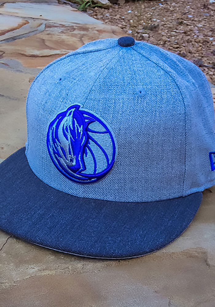 New Era Dallas Mavericks Mens Grey Heather Action 59FIFTY Fitted Hat - Image 7