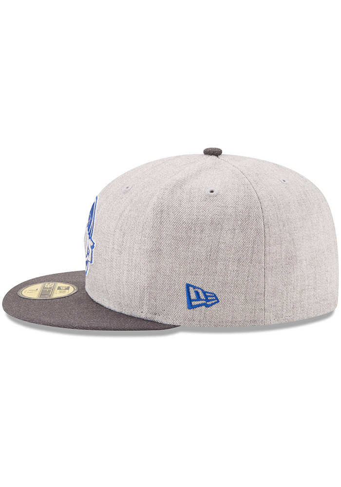 New Era Detroit Pistons Mens Grey Heather Action 59FIFTY Fitted Hat - Image 4