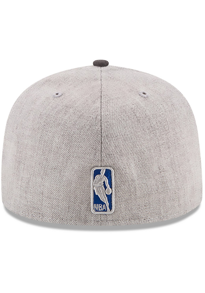 New Era Detroit Pistons Mens Grey Heather Action 59FIFTY Fitted Hat - Image 5