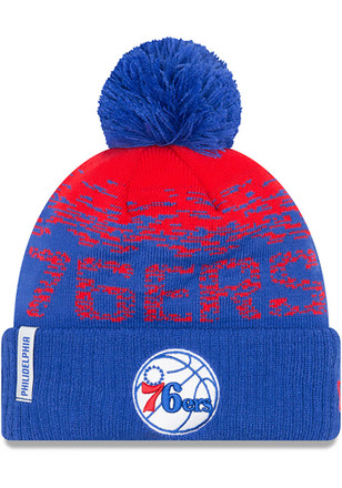 New Era Philadelphia 76ers Blue NE16 Sport Knit Hat