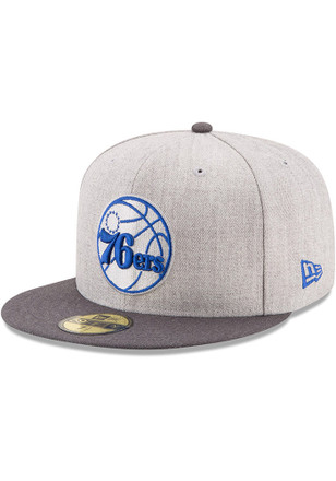 Philadelphia New Era Mens Grey Heather Action 59FIFTY Fitted Hat