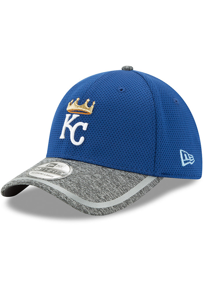 New Era Kansas City Royals Mens Blue NE16 Training 3930 39THIRTY Flex Hat - Image 1