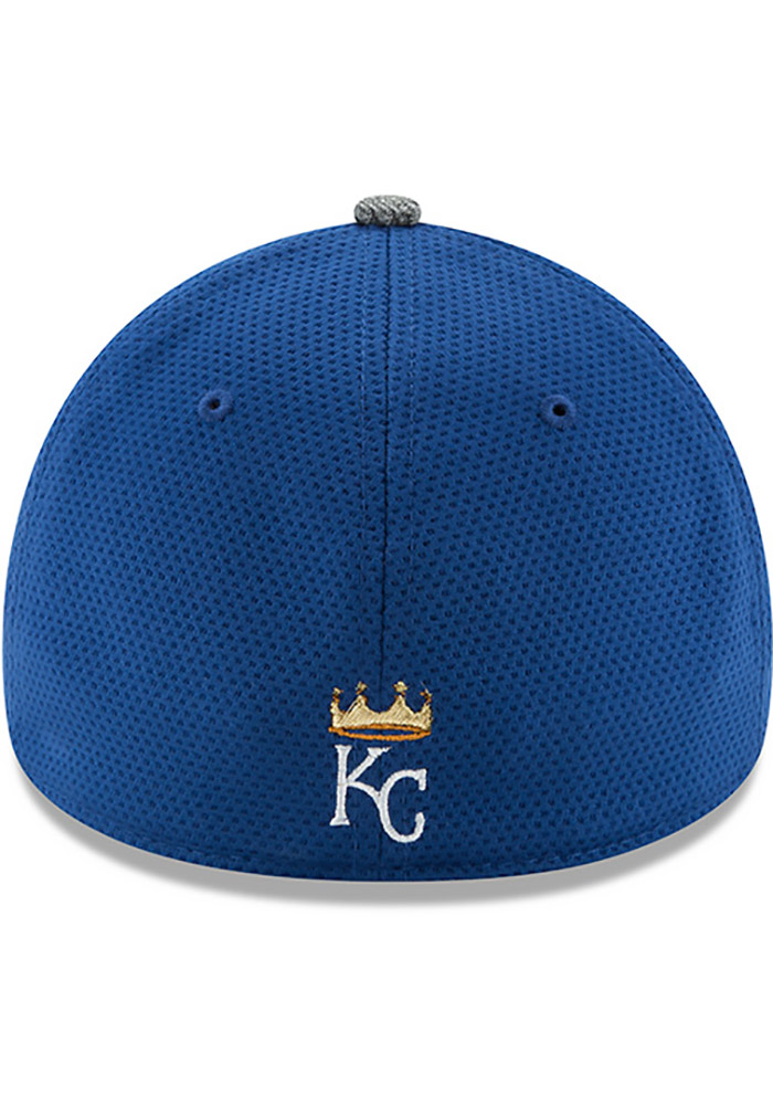 New Era Kansas City Royals Mens Blue NE16 Training 3930 39THIRTY Flex Hat - Image 5
