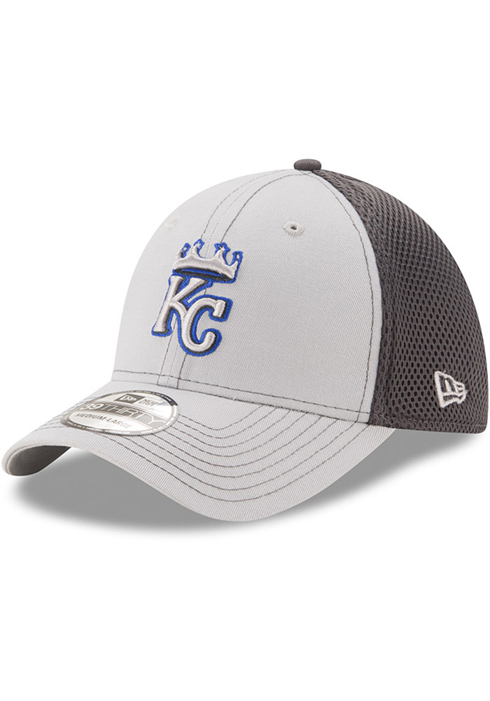 New Era Kansas City Royals Mens Grey Grayed Out Neo 39THIRTY Flex Hat - Image 1