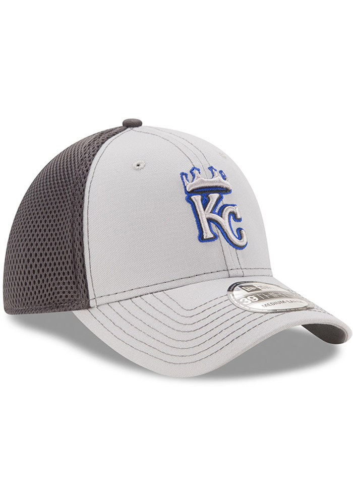 New Era Kansas City Royals Mens Grey Grayed Out Neo 39THIRTY Flex Hat - Image 2