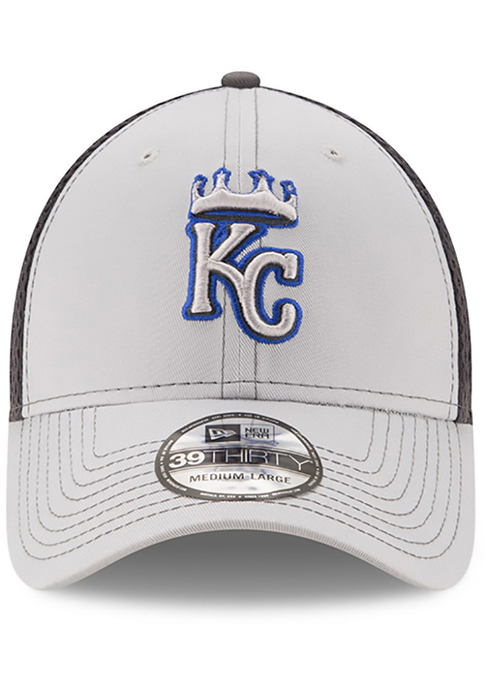 New Era Kansas City Royals Mens Grey Grayed Out Neo 39THIRTY Flex Hat - Image 3