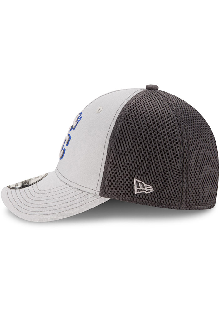 New Era Kansas City Royals Mens Grey Grayed Out Neo 39THIRTY Flex Hat - Image 4