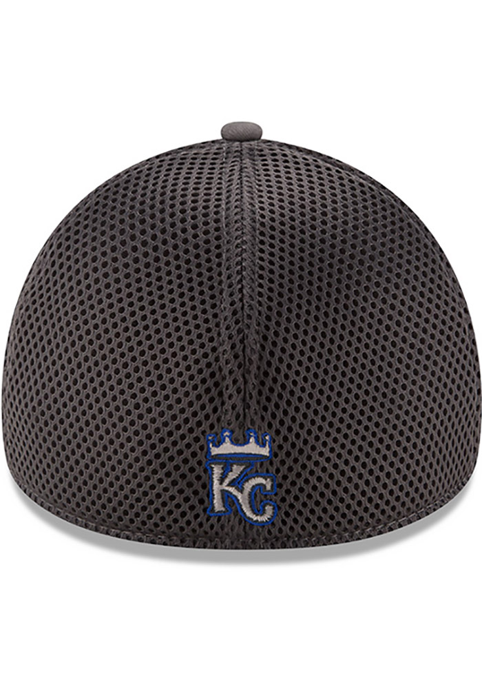 New Era Kansas City Royals Mens Grey Grayed Out Neo 39THIRTY Flex Hat - Image 5