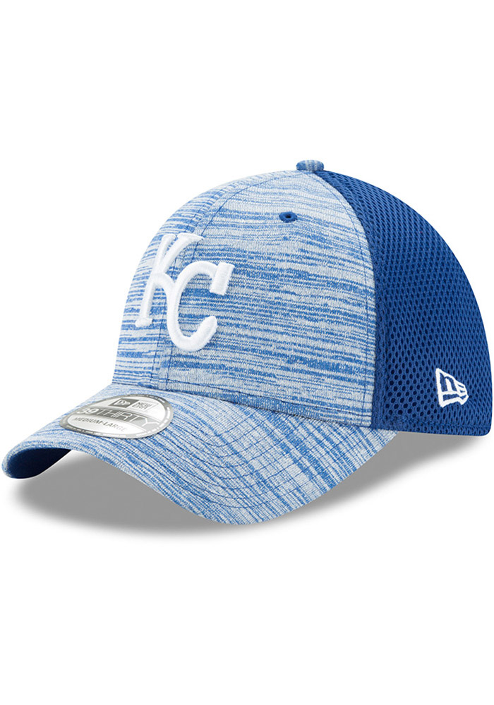 New Era Kansas City Royals Mens Black Tonal Tint 39THIRTY Flex Hat - Image 1