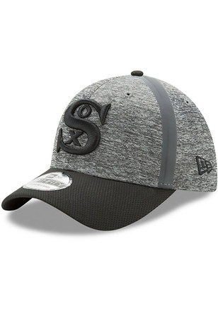 New Era Chicago White Sox Mens Grey 2017 Clubhouse 39THIRTY Flex Hat