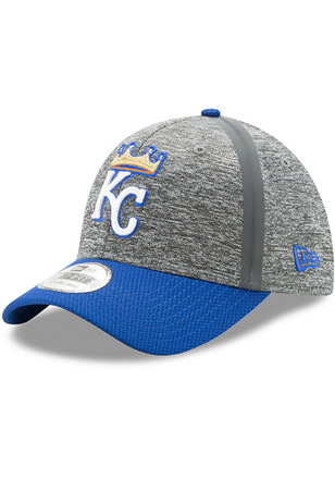 New Era KC Royals Grey Jr 2017 Clubhouse 39THIRTY Youth Flex Hat