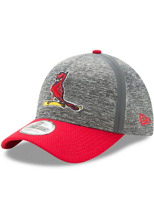 New Era St Louis Cardinals Mens Grey 2017 Clubhouse 39THIRTY Flex Hat