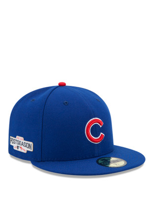 Chicago Cubs New Era Mens Blue 2016 Postseason Side Patch 59FIFTY Fitted Hat