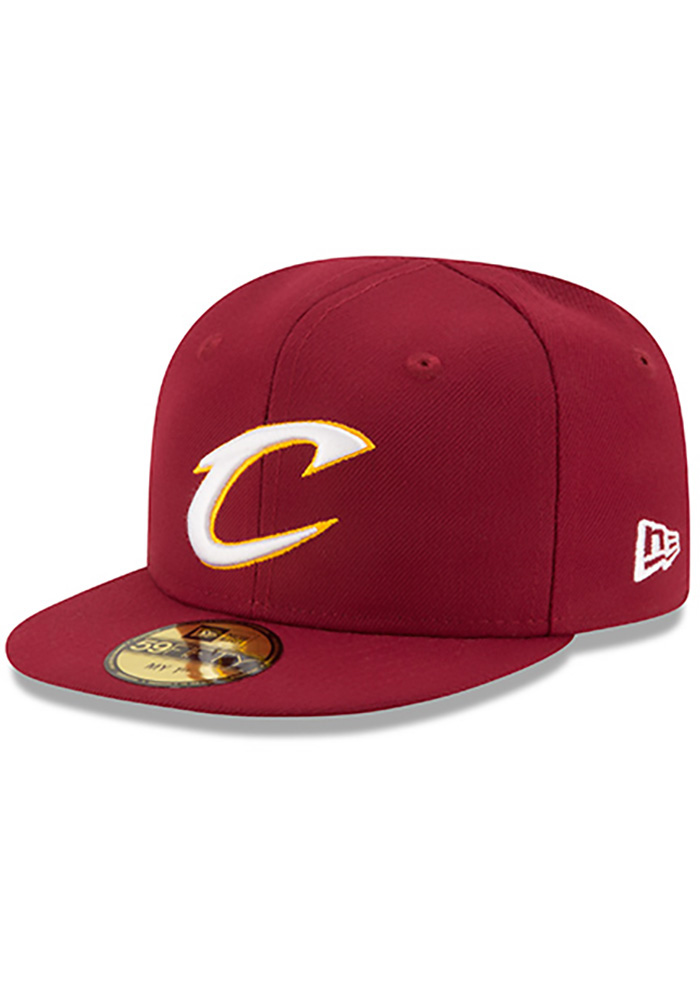 New Era Cleveland Cavaliers Maroon My 1st 59FIFTY Kids Fitted Hat - Image 1