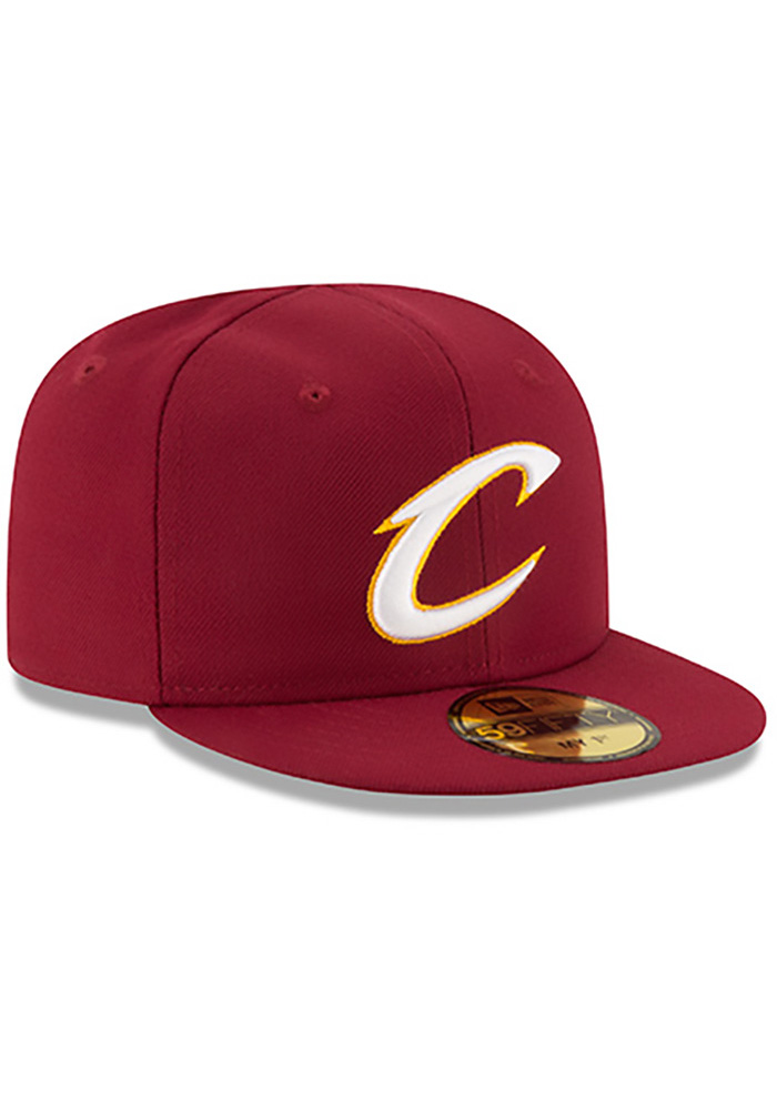 New Era Cleveland Cavaliers Maroon My 1st 59FIFTY Kids Fitted Hat - Image 2