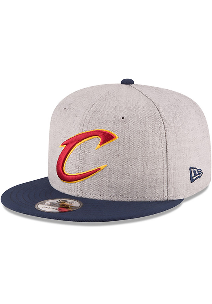 New Era Cleveland Cavaliers Grey Heather 9FIFTY Mens Snapback Hat - Image 1