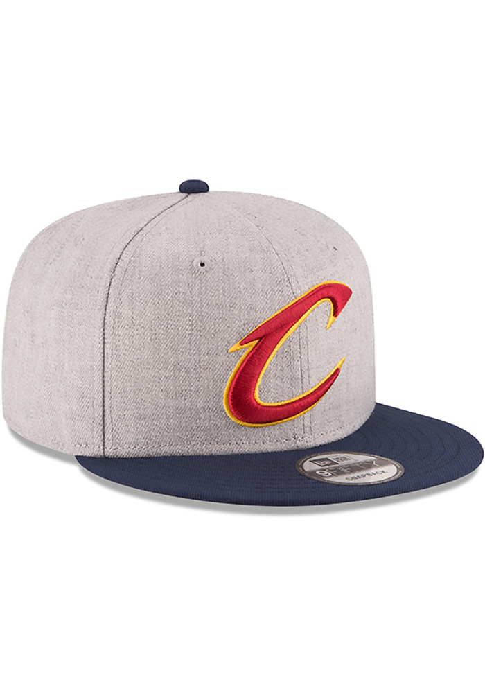 New Era Cleveland Cavaliers Grey Heather 9FIFTY Mens Snapback Hat - Image 2