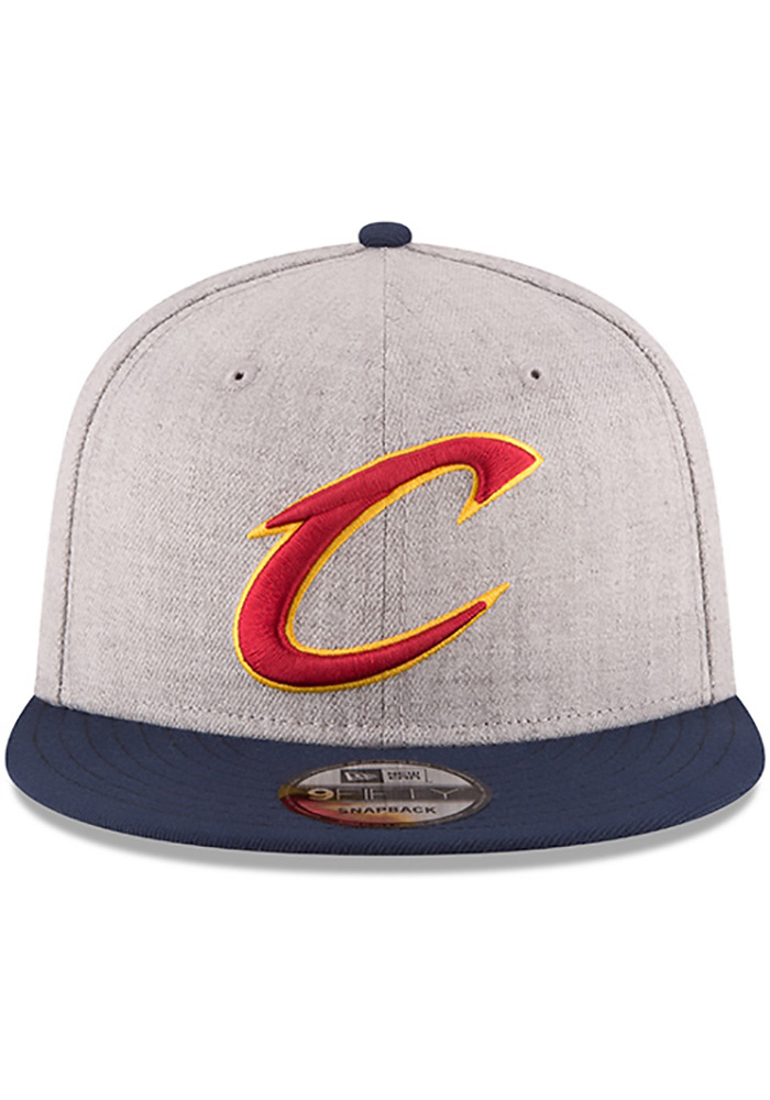 New Era Cleveland Cavaliers Grey Heather 9FIFTY Mens Snapback Hat - Image 3