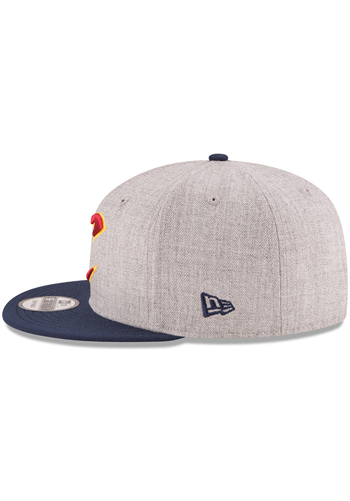 New Era Cleveland Cavaliers Grey Heather 9FIFTY Mens Snapback Hat - Image 4