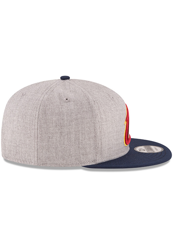 New Era Cleveland Cavaliers Grey Heather 9FIFTY Mens Snapback Hat - Image 6