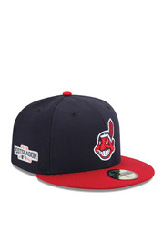 Cleveland Indians New Era Mens Navy Blue 2016 Postseason Side Patch 59FIFTY Fitted Hat