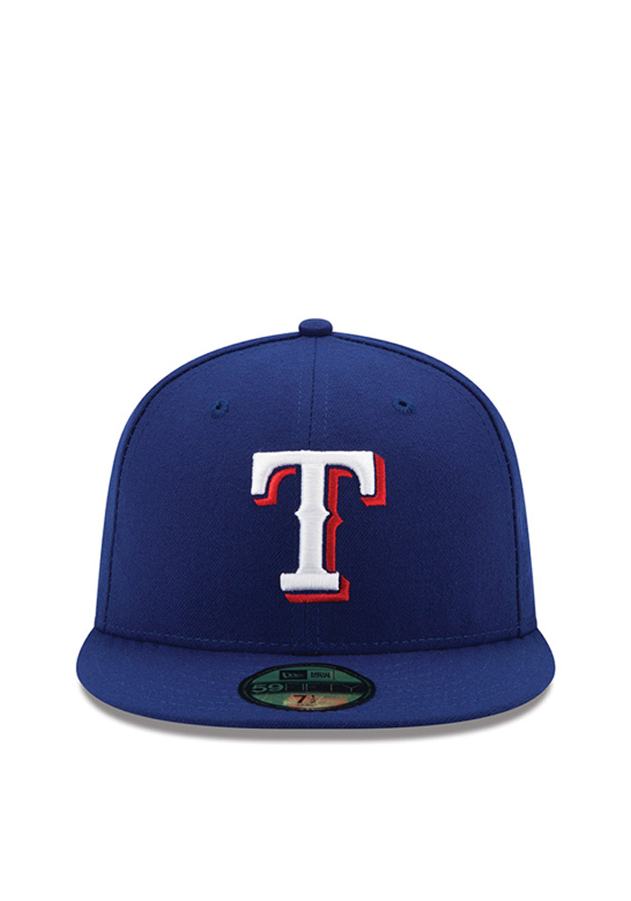 New Era Texas Rangers Mens Blue 2016 Postseason Side Patch 59FIFTY Fitted Hat - Image 2