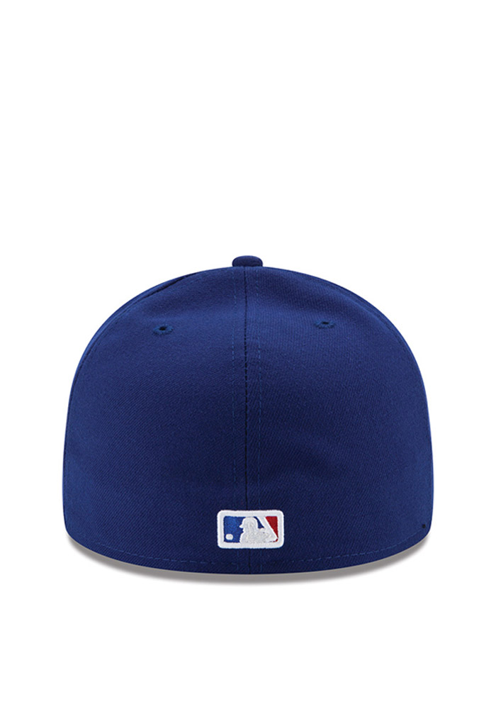 New Era Texas Rangers Mens Blue 2016 Postseason Side Patch 59FIFTY Fitted Hat - Image 3