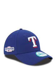 New Era Texas Rangers Mens Blue 2016 Postseason Side Patch 9FORTY Adjustable Hat