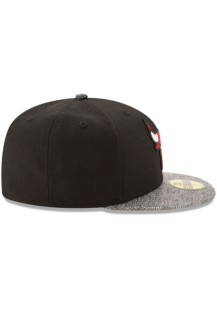 New Era Chicago Bulls Mens Black Gripping Vize 59FIFTY Fitted Hat - Image 6
