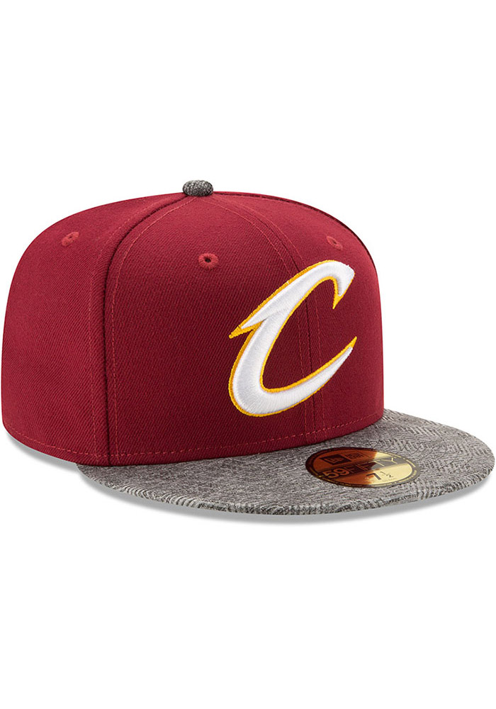 New Era Cleveland Cavaliers Mens Maroon Gripping Vize 59FIFTY Fitted Hat - Image 2