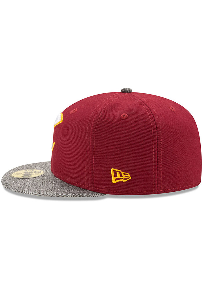 New Era Cleveland Cavaliers Mens Maroon Gripping Vize 59FIFTY Fitted Hat - Image 4