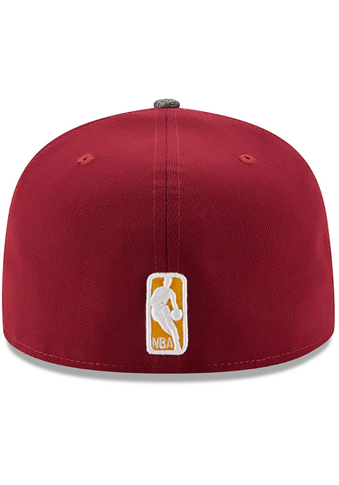 New Era Cleveland Cavaliers Mens Maroon Gripping Vize 59FIFTY Fitted Hat - Image 5