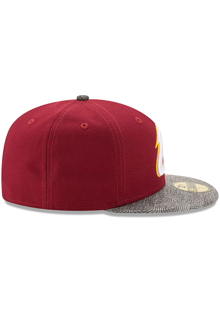 New Era Cleveland Cavaliers Mens Maroon Gripping Vize 59FIFTY Fitted Hat - Image 6